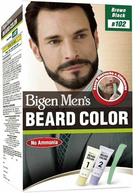 Bigen Hombres Beard Color - Marrón Negro Oscuro B103 sin Amoníaco no Deja Mancha