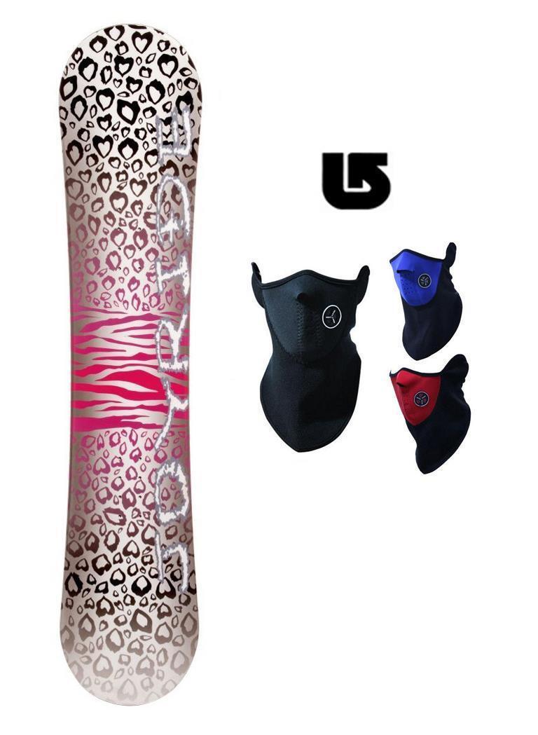 400 140cm Joyride Cheetah Diamond Womens Snowboard +Face Gaiter+Burton dcal az8