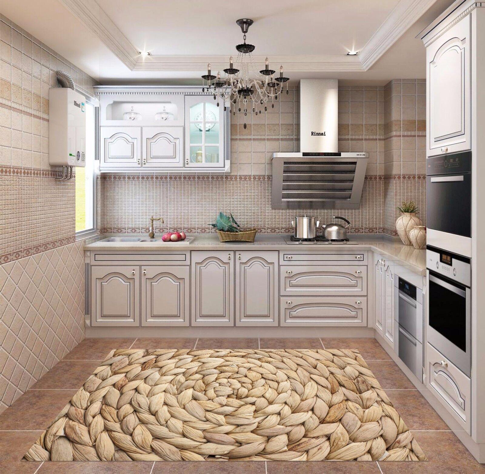 3D Knitting Rope 8 Küchenmatte Bodenbilder Wand Drucken Wand AJ WALLAPER AU Kyra