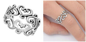 Sterling-Silver-925-ETERNITY-HEART-DESIGN-SILVER-BAND-PROMISE-RING-SIZES-4-13