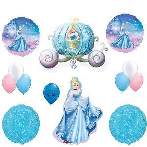 Image Is Loading Cinderella Party Supplies Sparkle Happy Birthday Balloon Decoration