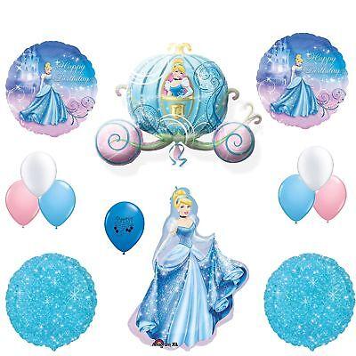 5 XL  Cinderella Disney Princess Balloon Birthday Party Supplies