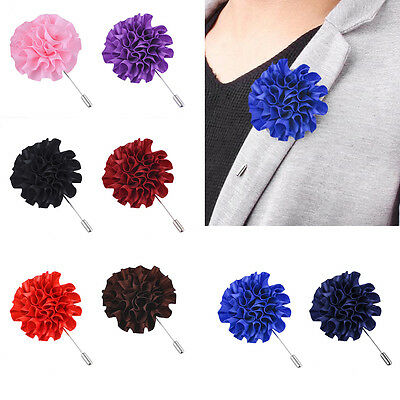 Flower Floral Lapel Pin Stick Tie Brooch Boutonniere Handmade Men AccessoriesBE