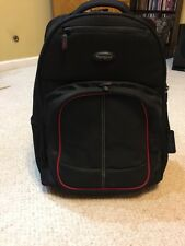 """Targus Compact Rolling Backpack Up To 17"""" Macbooks Computer Luggage Carry-on"""