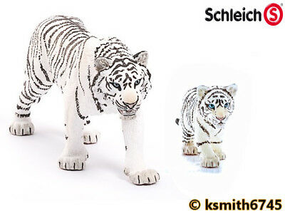 NEW * Schleich WHITE TIGER /& CUB solid plastic toy wild zoo animal cat