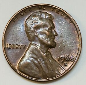 1968D LINCOLN COPPER CENT SMALL DATE ERROR COIN DDO DOUBLE DIE OBVERSE