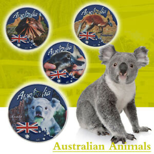 WR-4pcs-Australia-Cute-Animal-Silver-Commemorative-Coin-In-White-Box