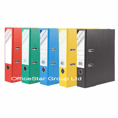 A4 Lever Arch File Folder Black Cloud & Mixed Coloured Office Binders-CHOOSE QTY