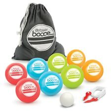 GoSports 90mm Backyard Bocce Set With 8 Balls PALLINO Case and Measuring Rope