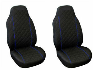 VW VOLKSWAGEN T3//T4//T5//T6 DELUXE BLUE PIPING VAN SEAT COVERS SINGLE DOUBLE