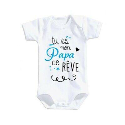 body bébé mixte blanc j/'peux pas j/'ai l/'om olympique marseille 18-23 mois neuf