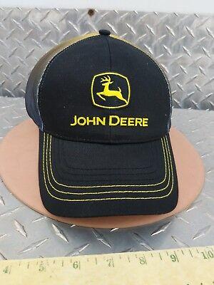 JOHN DEERE construction BLACK /& YELLOW Twill fading microMesh CAP HAT BRAND NEW