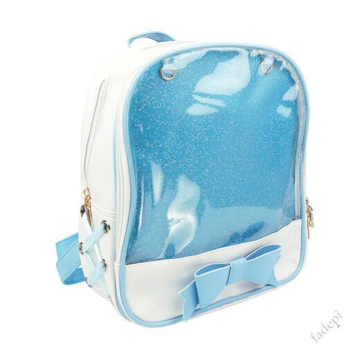 6 Colors CLEAR ITA Bag Transparent Pin Display Backpack For Kids School Bag