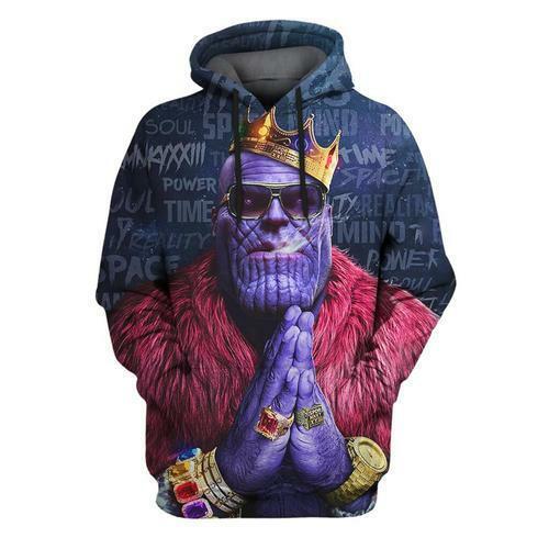 3D Print Movie Thanos Crown Women Men Casual Hoodies Pocket Pullover Sweatshirts