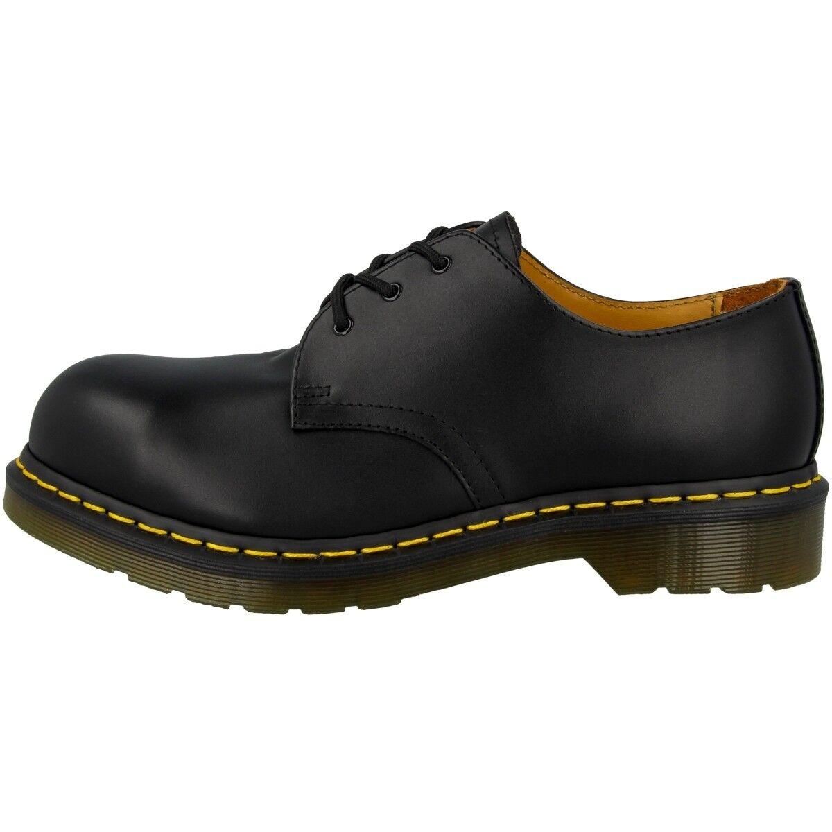 Dr Doc Stahlkappe Martens 1925 Schuhe 3-Loch Stahlkappe Doc Boots black fine haircell 10111001 9379aa