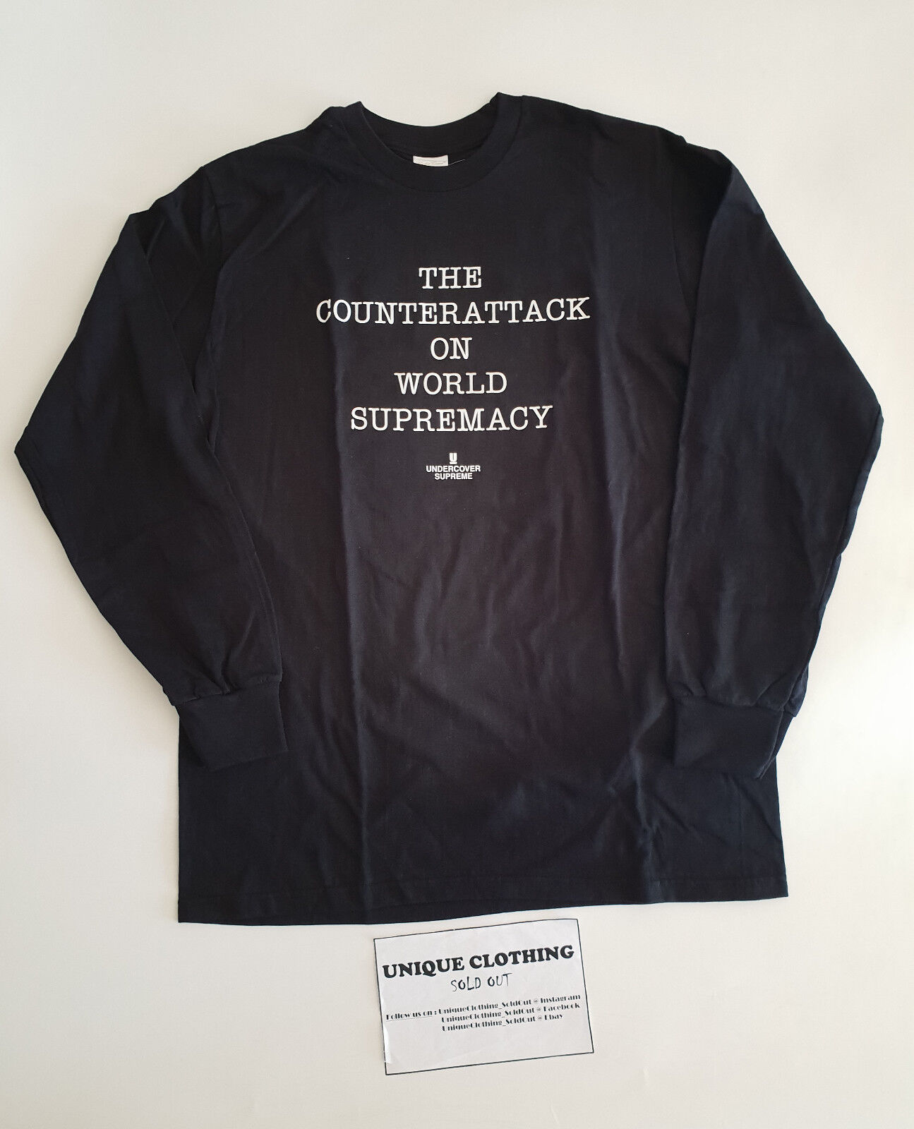 Supreme® UNDERCOVER Public Enemy Counterattack L S Tee Tee Tee nero M 2ee204