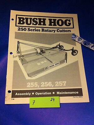Bush Hog 250 Series 255 256 Rotary Cutter Operation