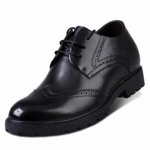 Homme-Cuir-Bout-D-039-Aile-Business-Bas-grosses-Derbies-Robe-Richelieu-A-Lacets-Chaussures