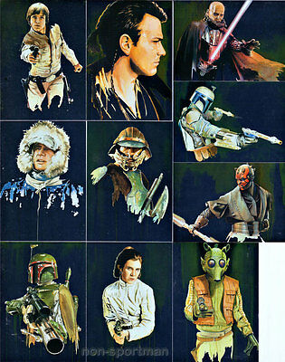 STAR WARS GALAXY SERIES 6 SILVER FOIL SET (10)