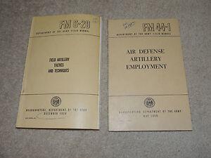 vintage military field manuals army field air defense artillery fm rh ebay com Field Artillery Gunnery Field Artillery Support Plan Example
