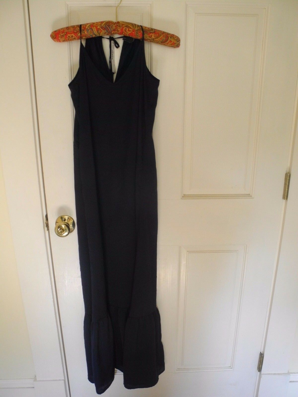 NEW J Crew Navy  Nightgown Full Length Lingerie Gown Size  SMALL  retail  98