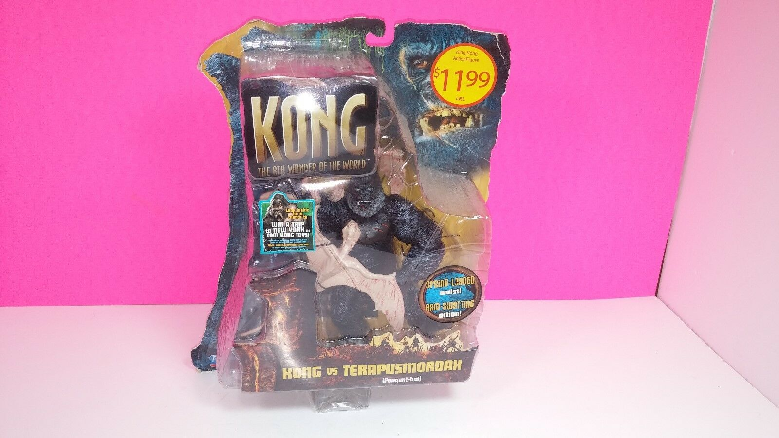 King Kong vs Terapusmordax Playmates Action Figure Unopened