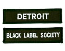 BLACK LABEL SOCIETY DETROIT MEMBER FAN CLUB PATCH SET