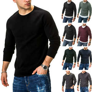 Jack-amp-Jones-Hommes-Tricot-Pull-Basic-Sweater-Pullover-Unicolore-Messieurs-Tricot