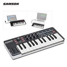 SAMSON M25 25-Key USB MIDI Keyboard Controller 4 Pads/8 Assignable Knob X6H6