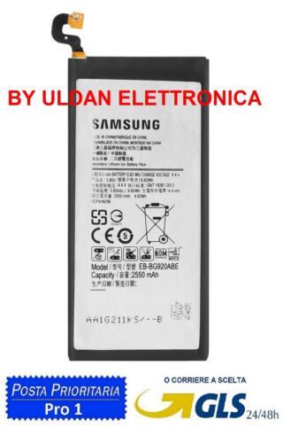 BATTERY EB-BG920ABE for SAMSUNG GALAXY S6 SM G920F 2550mAH battery