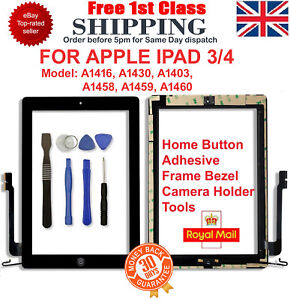 For-iPad-3-A1416-A1430-A1403-Black-Touch-Screen-Lens-Digitizer-Glass-Replacement