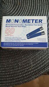 Blutzuckerteststreifen Monometer 50 Stück MHD 08/2021