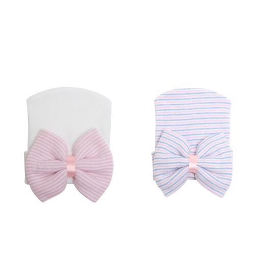 2xBaby Infant Toddler Hospital Cap Soft and Comfortable Bowknot Beanie Hat