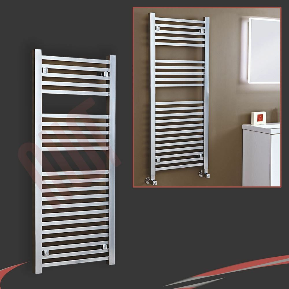 500mm (W) x 1200 mm (H)  Atlas  Chrome diseñador heated towel rail, Calentador, Radiador