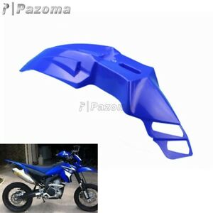 Universal Motorcycle Front Fender Mudguard Cover Blue For Supermoto Bikes