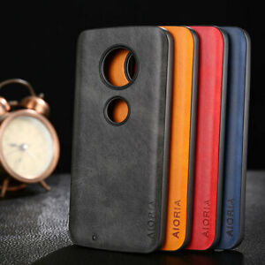 Case-for-Motorola-Moto-G7-G6-G5S-Plus-Luxury-Vintage-leather-Skin-and-soft-cover