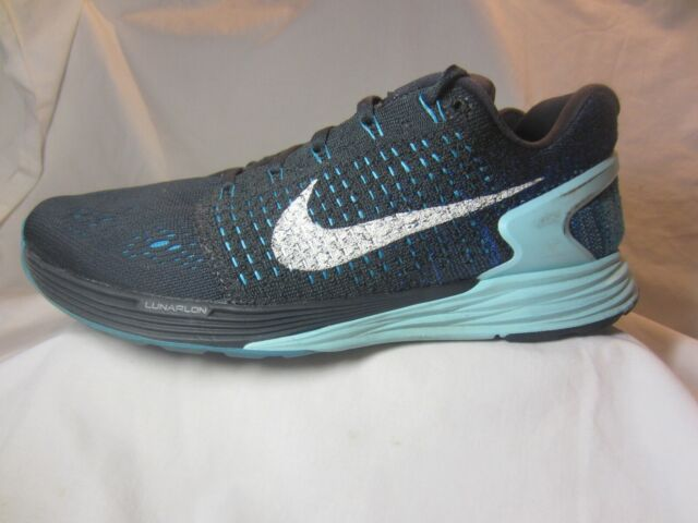 huge selection of 31bb4 fd898 Nike Lunarglide 7 Women Athletic Running Shoes Size 9m Charcoal Gray Teal
