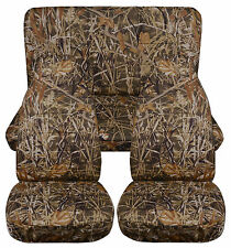 TOYOTA 4 RUNNER CAR SEAT COVERS CAMO front and rear choose your color