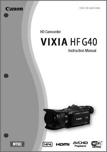 canon hv30 owners manual