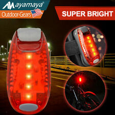 1//2//4Pack LED Safety Light Clip On Strobe Running Cycling Bike Tail Warning Gear