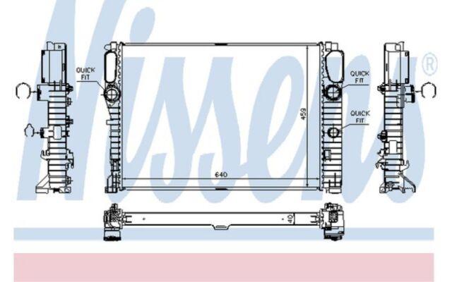 NISSENS Radiador, refrigeración del motor MERCEDES-BENZ CLASE E CLS 62796A