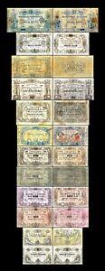2x  20 - 1.000 Francs - Edition 1850 - 1862 - Reproduction - B 26