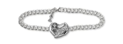 Soft Coated Wheaten Bracelet Jewelry Sterling Silver Handmade Dog Bracelet SC6-B