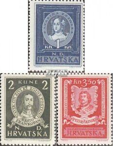 Kroatien-103-105-kompl-Ausg-postfrisch-1943-Persoenlichkeiten