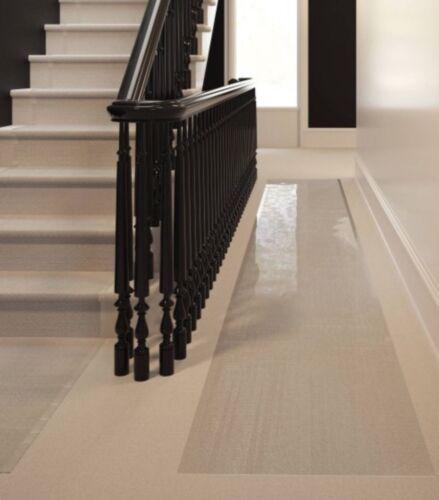 Tapete De Plástico Transparente Runner Protetor De Carpete Tapete com nervuras Multi-Grip 26in X 60in