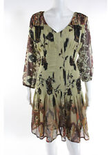 Desigual Multi Color Graphic Pleated Tunic Dress Size European 38 $229 New