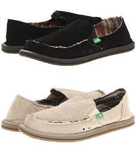 Sanuk-Donna-Hemp-Women-Shoes-Slip-on-Flat-Sidewalk-Surfer-Black-Natural-Olive