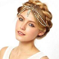 Women Head Chain Metal Rhinestone Headband Head Piece Hair band Charm Jewelry