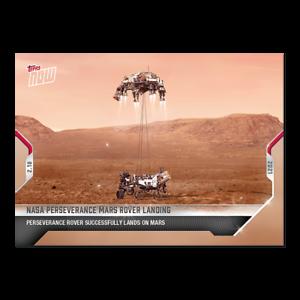 Nasa Perseverance Mars Rover Landing - Topps Now Card #1 - February 18, 2021