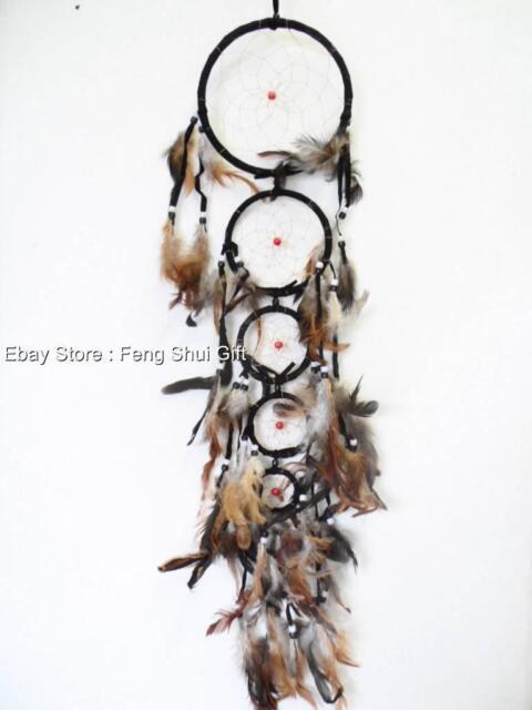 Long/Big Handmade Wall Hanging Feather Dream Catcher Decoration Ornament #J